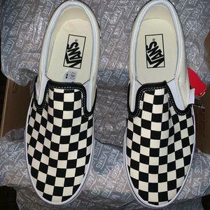 NWT Vans Checkered Blk/White